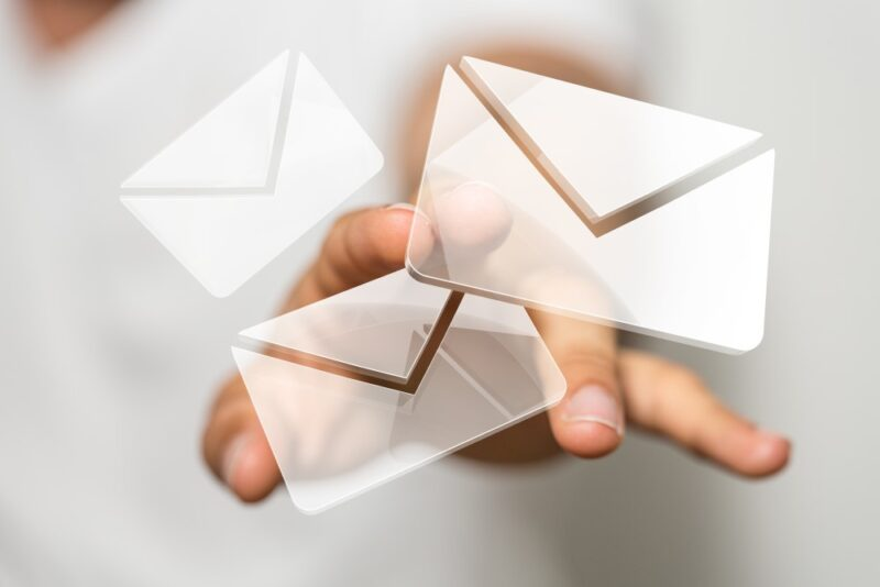 Successful marketing email icons