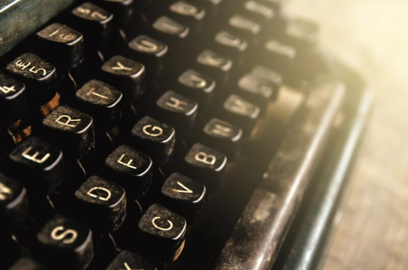 Types of content on a keyboard