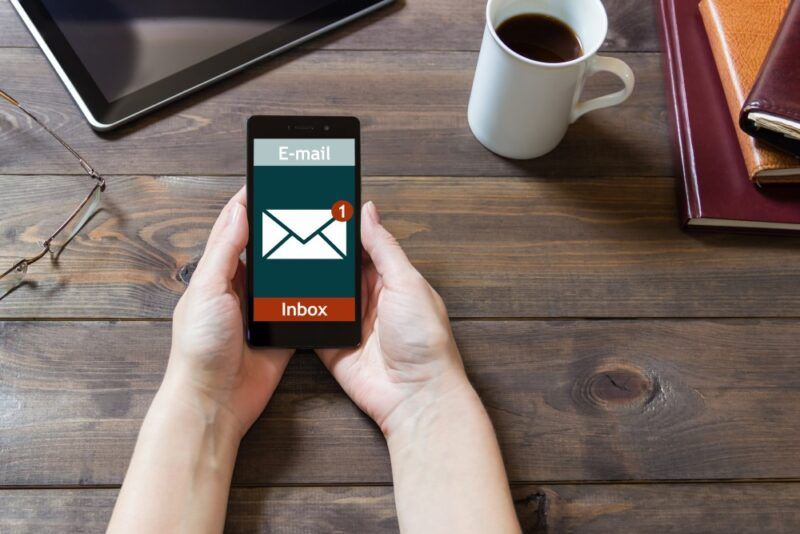 Email marketing success on a mobile phone