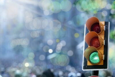 Blog traffic light on green