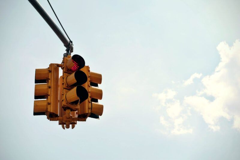 Traffic light stopping intrusive popups