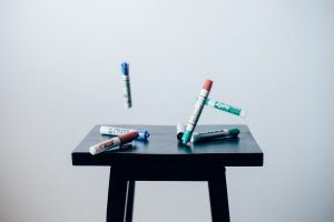 Bouncing pens to show bounce rate