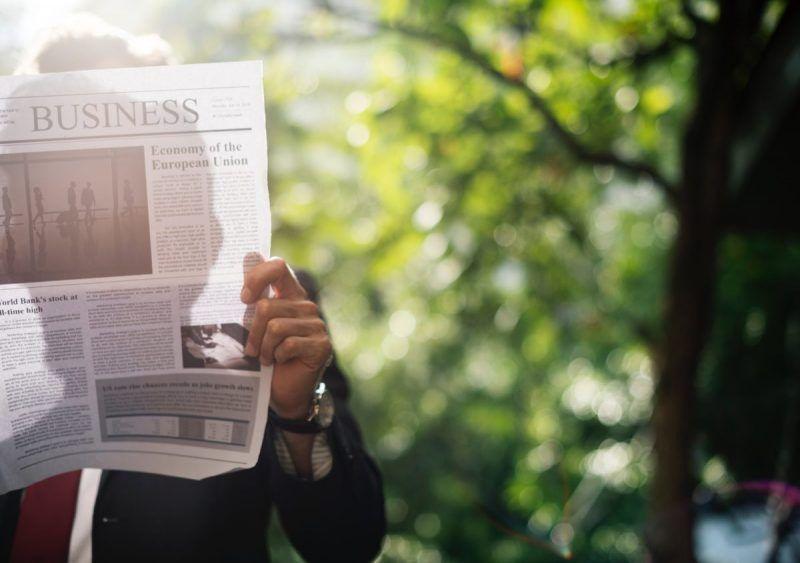 Newspaper for business newsroom