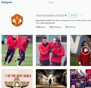 manchester united instagram