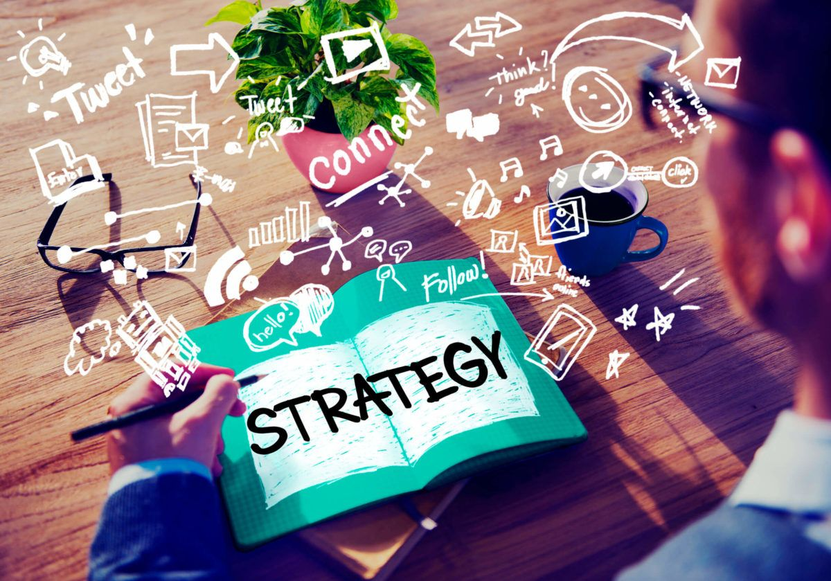 49341146 - strategy online social media networking marketing concept