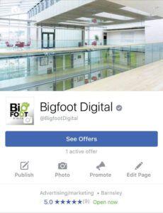 Bigfoot Digital Facebook