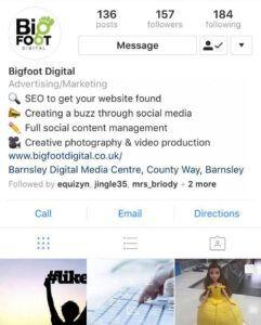 Bigfoot Digital Instagram
