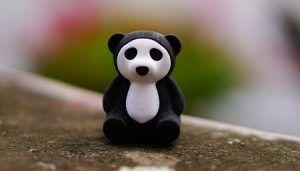 Black and White Toy Panda