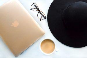 Black hat representing black hat seo with laptop