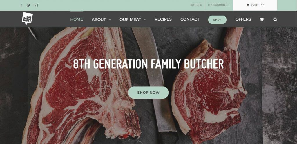 Eat Great Meat Responsive Website