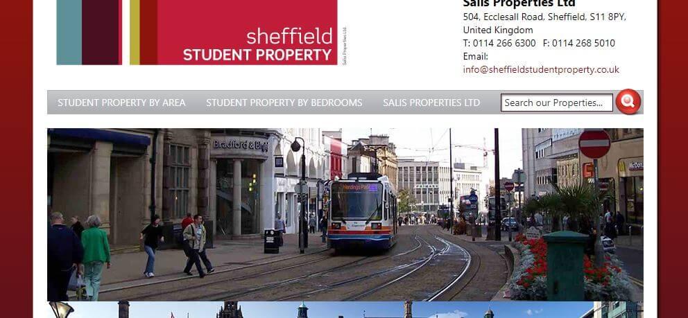 student properties website