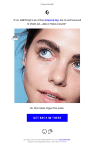 Email Marketing Cart Abandonment Glossier