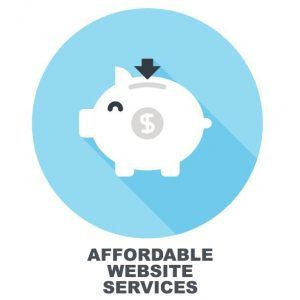 affordable website services graphic
