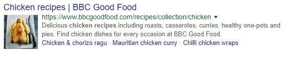 Schema markup google listing