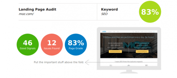 Results of SEO Site Audit from Bigfoot Digital