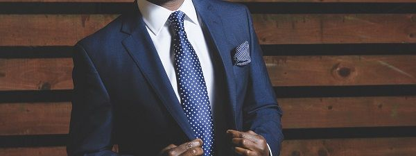 Businessman with a suit look for corporate website design.