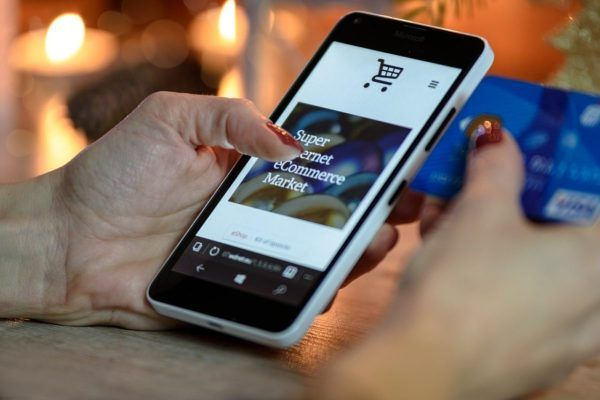 Ecommerce Marketing on mobile phone in London