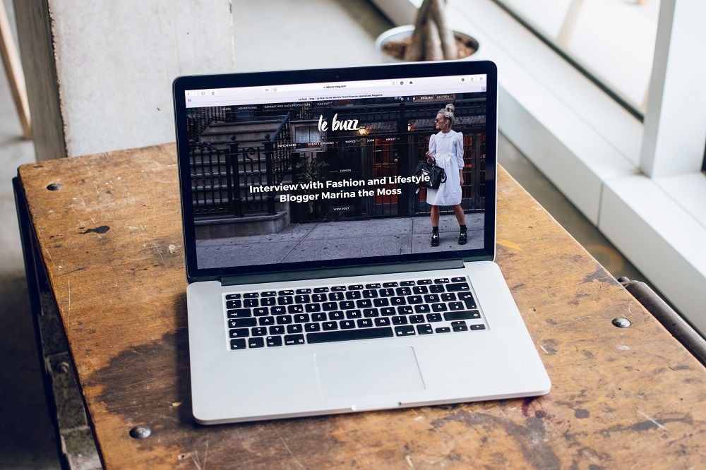 Brochure Website Design Manchester site on a laptop.