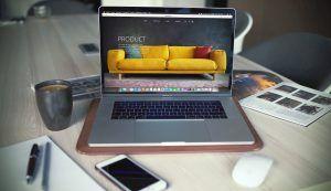 An ecommerce website Manchester website on a laptop.
