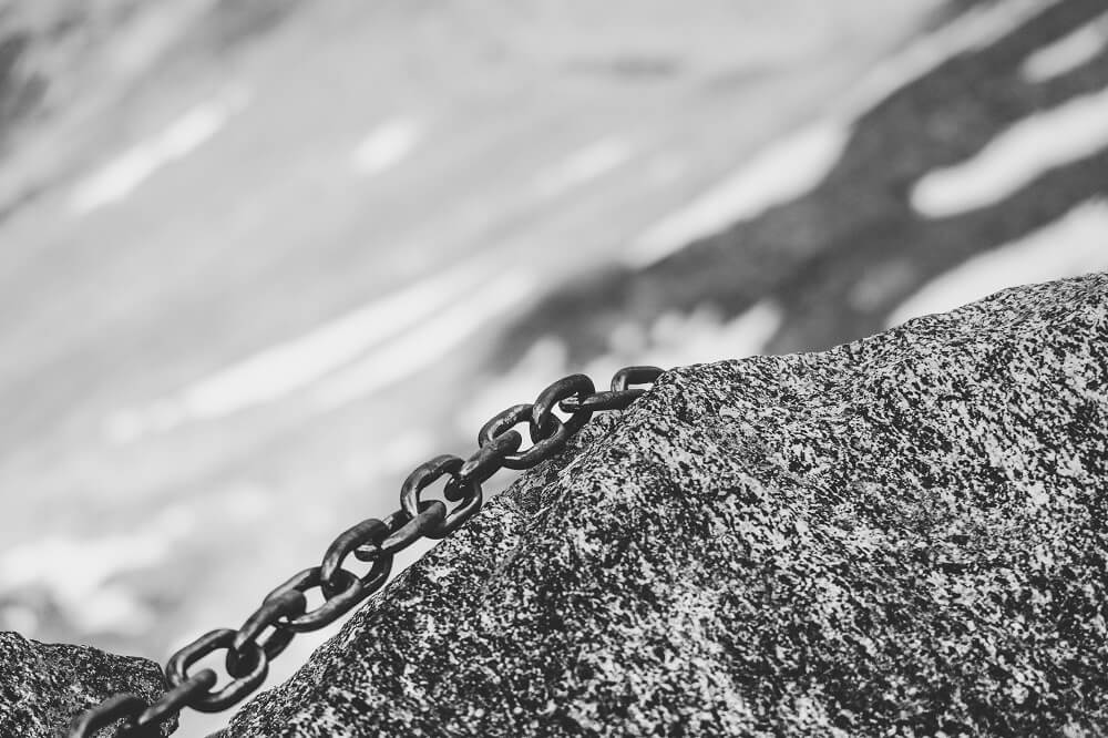 Chain with pretty links.
