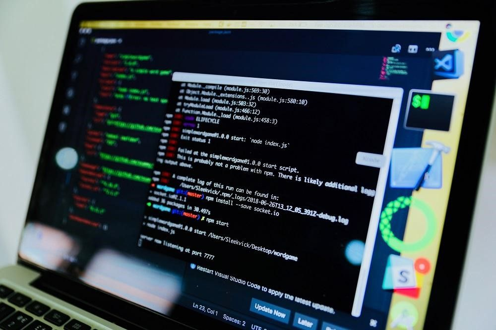 Person using SEO skills to code a website.