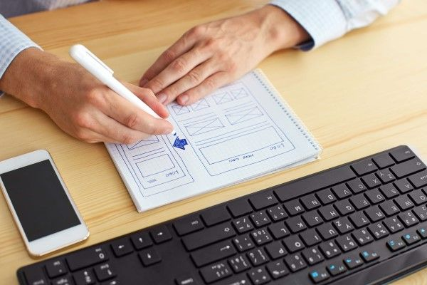business website design services planning