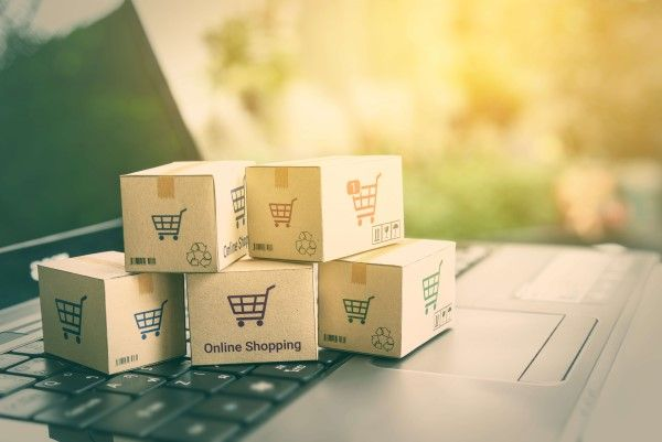 ecommerce website design Newcastle boxes for delivery