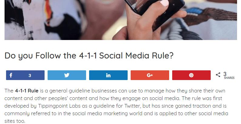 SEO technique in social media.