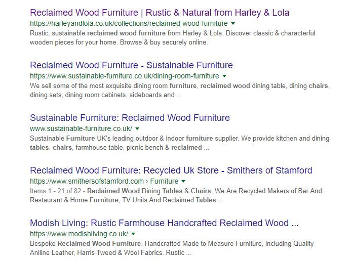 Searching Google for a social media marketing plan.
