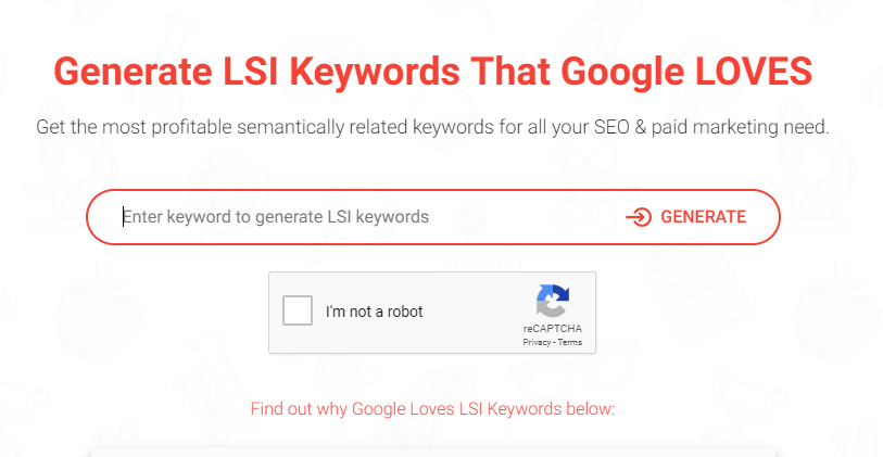 SEO Technique to kind lsi keywords.