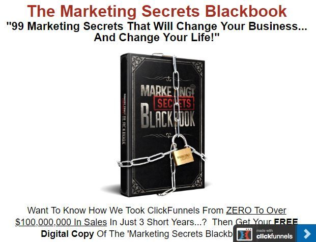 Marketing funnel to sell ebook.