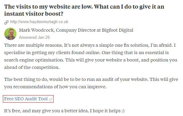 Quora, a type of social media.