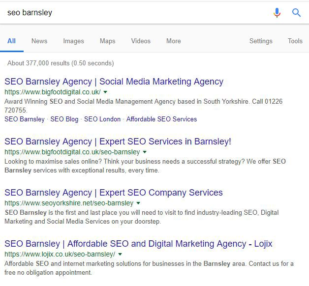 Top rankings proving that SEO is important.