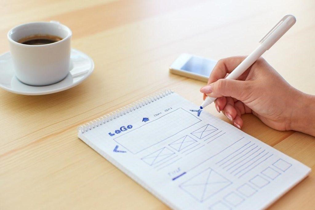 Employee working on website design Sheffield