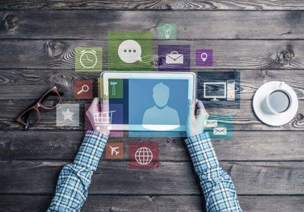 Social Media Marketing Birmingham on a tablet