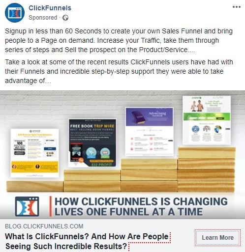 Clickfunnels Free Trial Facebook Promotion.