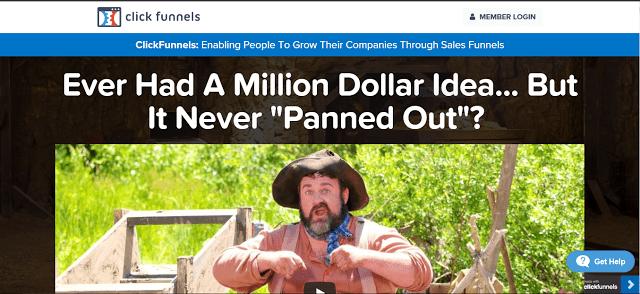 Page discussing a clickfunnels scam.