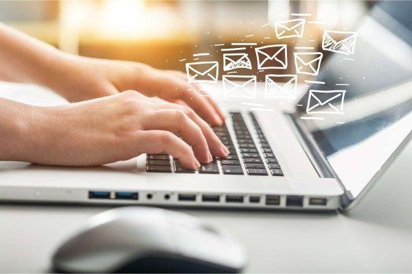 Email Marketing Birmingham on a laptop