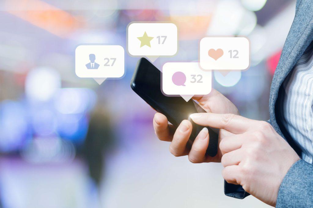 Social Media Marketing Birmingham on a mobile