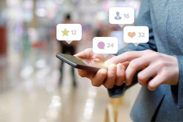 Social Media Marketing Edinburgh on a mobile phone