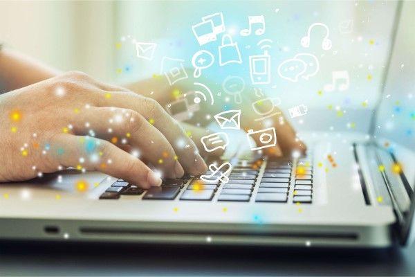 Social Media Marketing Edinburgh on a laptop