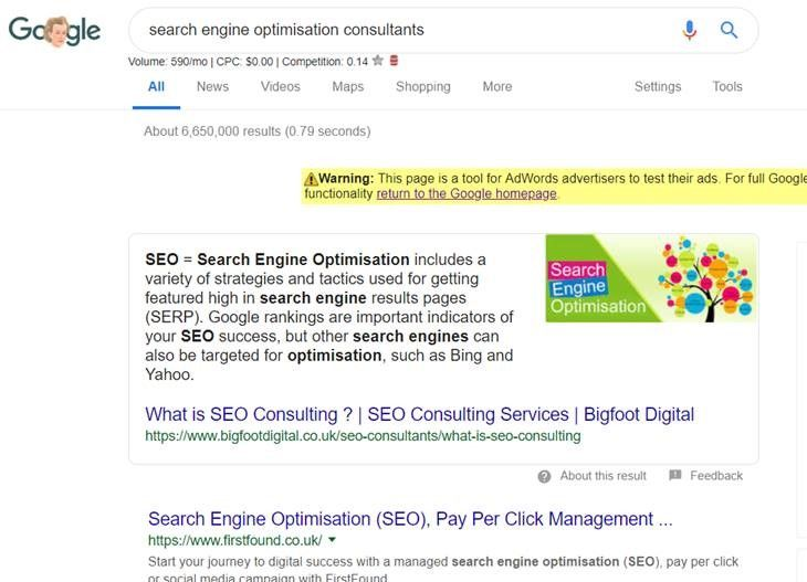 Featured Snippet Optimisation is one of the SEO trends for 2019.