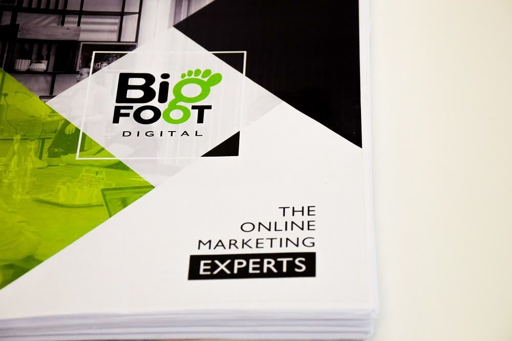 Small Business Marketing Consultant Brochure for Bigfoot Digital.