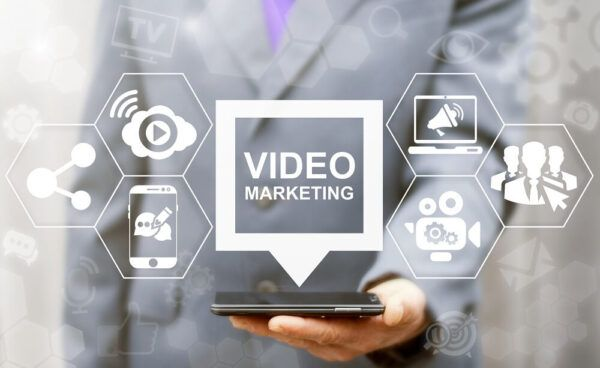 video marketing consultant on a phone