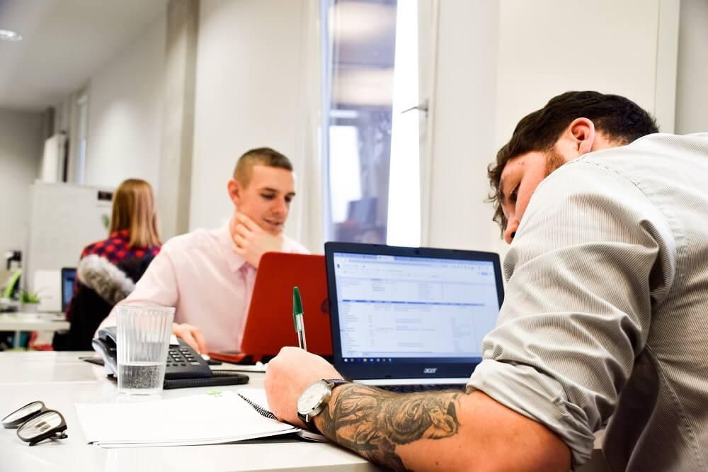 web design huddersfield team working on laptops