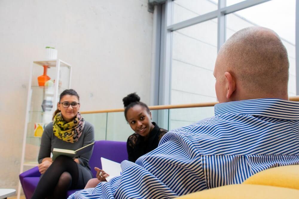 website design manchester team discussion