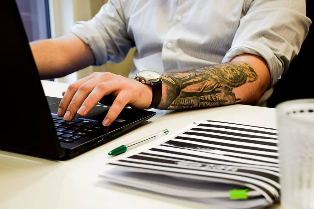 website design services in manchester on a laptop